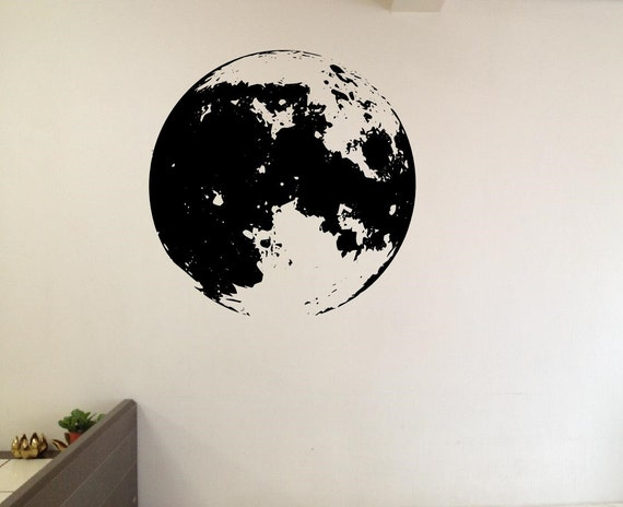 Full Moon Wall Decals Vinyl Decal Home Sticker Living Room
