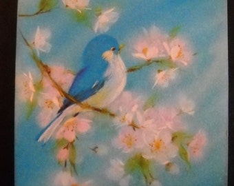 Vintage speedy recovery card etsy vintage get well greeting card unused 1970s ambassador cards cute blue bird and flowers m4hsunfo Image collections