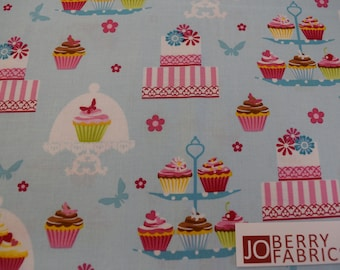 Cakes from the Cupcake Cafe Collection by Laura Stone for Studio E.  Quilt or Craft Fabric, Fabric by the Yard.