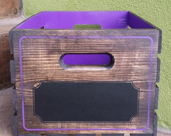 Bespoke Personalized Stained Wooden Crate