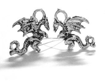 Mother of Dragon Earrings - Sterling Silver Dragon Jewelry - Fantasy Earrings - Dragon Jewlery - Mother of Dragons Womens Mens Earrings 046