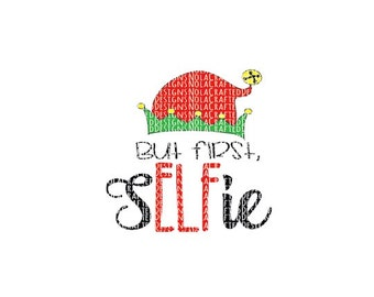 Elfie Svg - Selfie Svg - Elf Svg - Elf Png - Elf Cut File - Christmas Svg - Christmas Png - Christmas Cut File - DXF - EPS - Santa Svg
