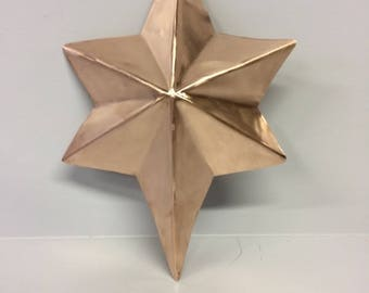 6 Pointed Copper Tree Topper: Hand Crafted Custom Made