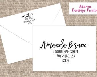 PRINTING SERVICES- ENVELOPE Printing Service- Printed Return Address- Printed Envelopes- Printed Address-Addressed Envelopes