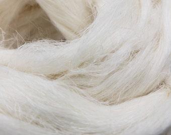 1 pound bleached flax combed top, roving, spinning fiber, linen, fiber, natural color, plant fiber, vegan, fibre