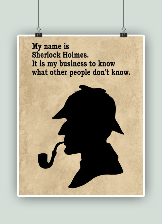 Sherlock Holmes Sherlock poster