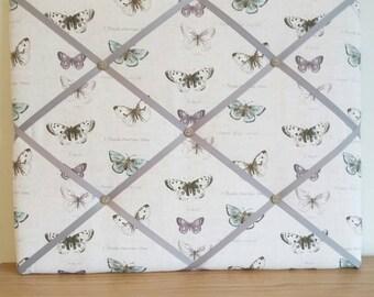 Memo board in Butterfly Fabric padded notice board