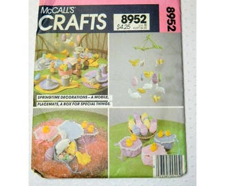 McCall's Easter Craft Pattern 8952 - Bunnies - Easter Eggs - Mobile