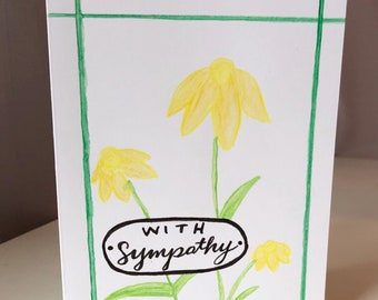 With Sympathy daisies