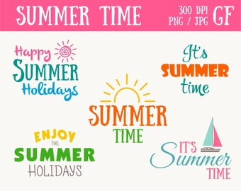 Summer time Clip Art Summer Label Banner clipart