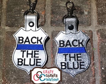 Back the blue keychain-police keychain-bacj the blue