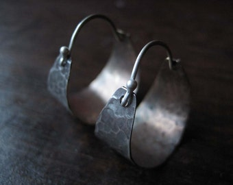 Small Silver and Brass Hoops