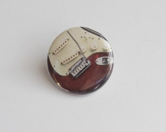 Electric Guitar Tie Tack or Clutch Pin