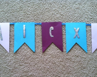 Frozen inspired birthday banner
