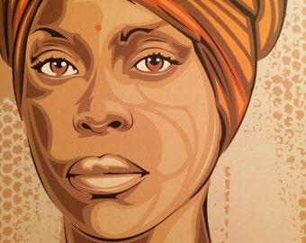 """Erykah Badu """"Baduist"""" Digital Art Print"""