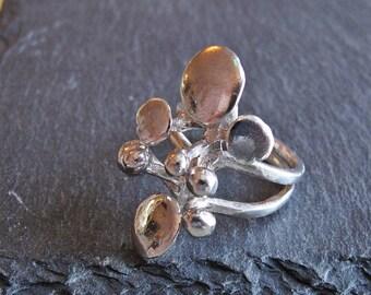 Relo Studio Silver Ring , 925 Silver Modernist Ring , Lichen Ring , Relo Studio Austria
