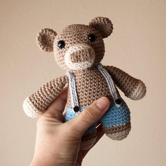 Bear - Animalius. Crochet Doll, Amigurumi Toy, Crocheting, Made to Order, Animal Crochet, Cute Children Gift, Nursery Doll, DIY, Art Crafts