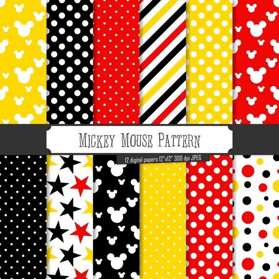 Comprar 2 obtener 1 gratis Patrón de Mickey Mouse de papel
