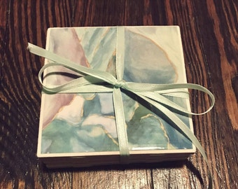 Marble (Photo) Coasters - Christmas Gifts, Anniversary Gifts, Valentines Day Gift, Baby/Bridal Shower, Mother's/Father's Day, Birthday Gift