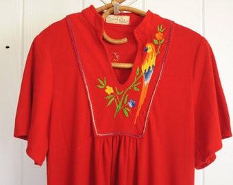 Vintage Tropical Day Dress