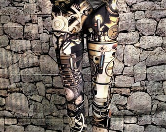 Steampunk leggings and belt (2)