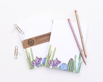 Cactus Notepad - Cacti Succulent Garden To Do Notes Paper Pad