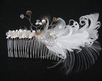 Bridal hair comb ideal for up styles or short hair