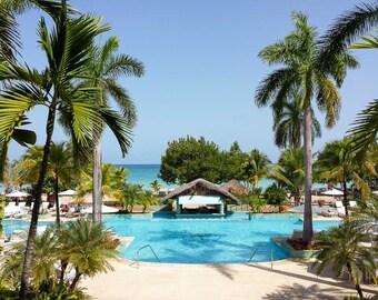 Negril Photography - Jamaica - Caribbean Island - Beach - Couples Negril Resort - Travel Fine Art Photograph Print - Home Decor - Office