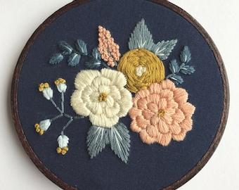 Embroidery Kit Designs DIY Hoop Art Embroidery Pattern Beginner Embroidery PDF Modern Gift for Her Beginner Wall Art Hoffelt and Hooper