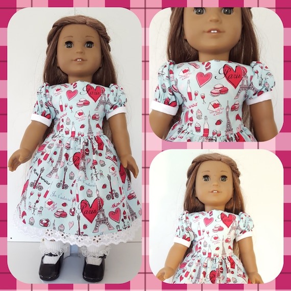 18 Inch American Made Love Hearts Paris Dress for Grace