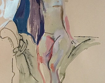 Nude #1534- original watercolor painting by Gretchen Kelly