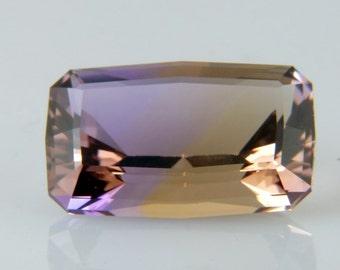 Ametrine Bolivian Faceted Gemstone Beautiful Large 16.75 ct. Natural Ametrine Custom Cut Gem