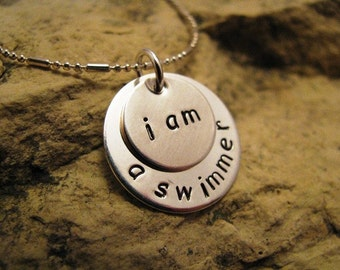 i am a swimmer - all silver charm