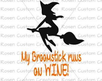 Halloween SVG. Witch. Trick or Treat. Wine.