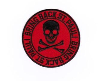 "St Pauli Patch, patch, Hamburg badge, football iron on sew ""bring back St. Pauli"""