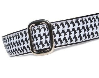 """1"""" Dog Collar Houndstooth Hound - Choose Your Collar Style!"""