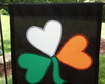 St.Patrick's Day Shamrock Garden Flag