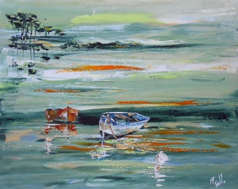 """Painting """" By the lake green """""""