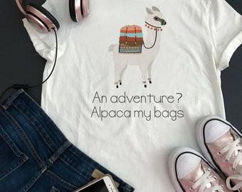 Alpaca adventure shirt women, Alpaca gift, Alpaca lover gift, Alpaca tshirt Alpaca shirt Alpaca t-shirt for girls Alpaca tee shirt for women