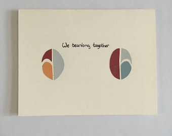 We Beanlong Together - Love Card - Romance Card - Pun Card - Valentines