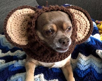 Crochet Monkey Dog Snood