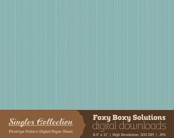 Instant Download Blue Pinstripe Printable Digital Paper for Scrapbooking - Digital Download Supply - Rustic Shabby Chic Digital Background