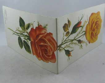 Needle booklet ROSE from the former GDR. Approx. 13 cm x 7.7 cm. Vintage