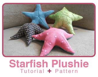 Realistic Starfish Plushie tutorial and pattern