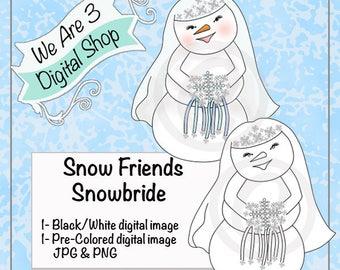 We Are 3 Digital Shop, Snowbride, Digital Stamp, Winter, Christmas