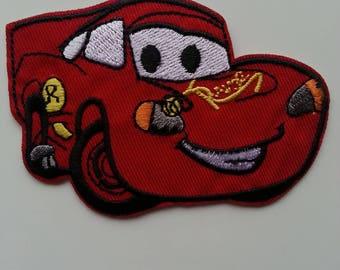ecusson voiture rouge car  90*60mm