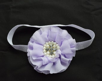 Lovely Lavender Chiffon Flower Headband