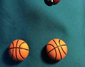 Cute Basketballs Sports Large Ball Clog Shoe Charms