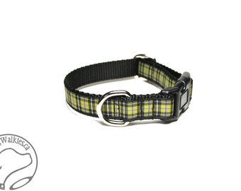 """Cornish National Tartan Dog Collar / 3/4"""" (19mm) Wide - Martingale or Side Release / Choice of collar style and size"""