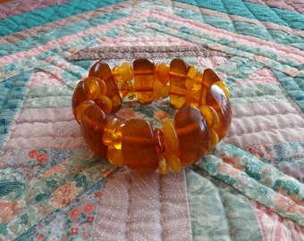 Vintage, Faux baltic Amber, Bracelet
